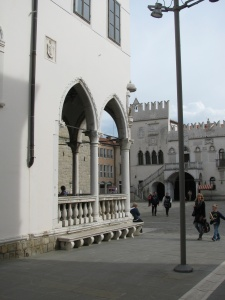 Loggia looking towards the Praetorian Palace