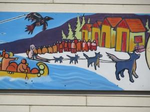 Mural Centre de la Francphonie Whitehorse