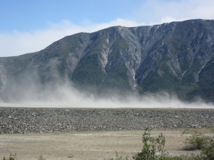 Glacier Dust over Kluane Lake