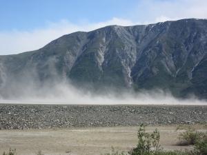 Glacier Dust over Kluane Lake