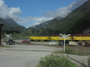 White Pass and Yukon Rail Yards Skagway