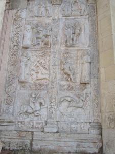 Marble bas-relief Basilics San Zeno Verona